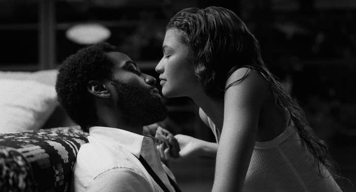 John David Washington and Zendaya in a promo shot for Malcom & Marie