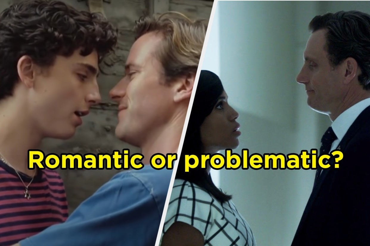 """Elio and Oliver from """"Call Me By Your Name"""" and Olivia and Fitz from """"Scandal"""""""