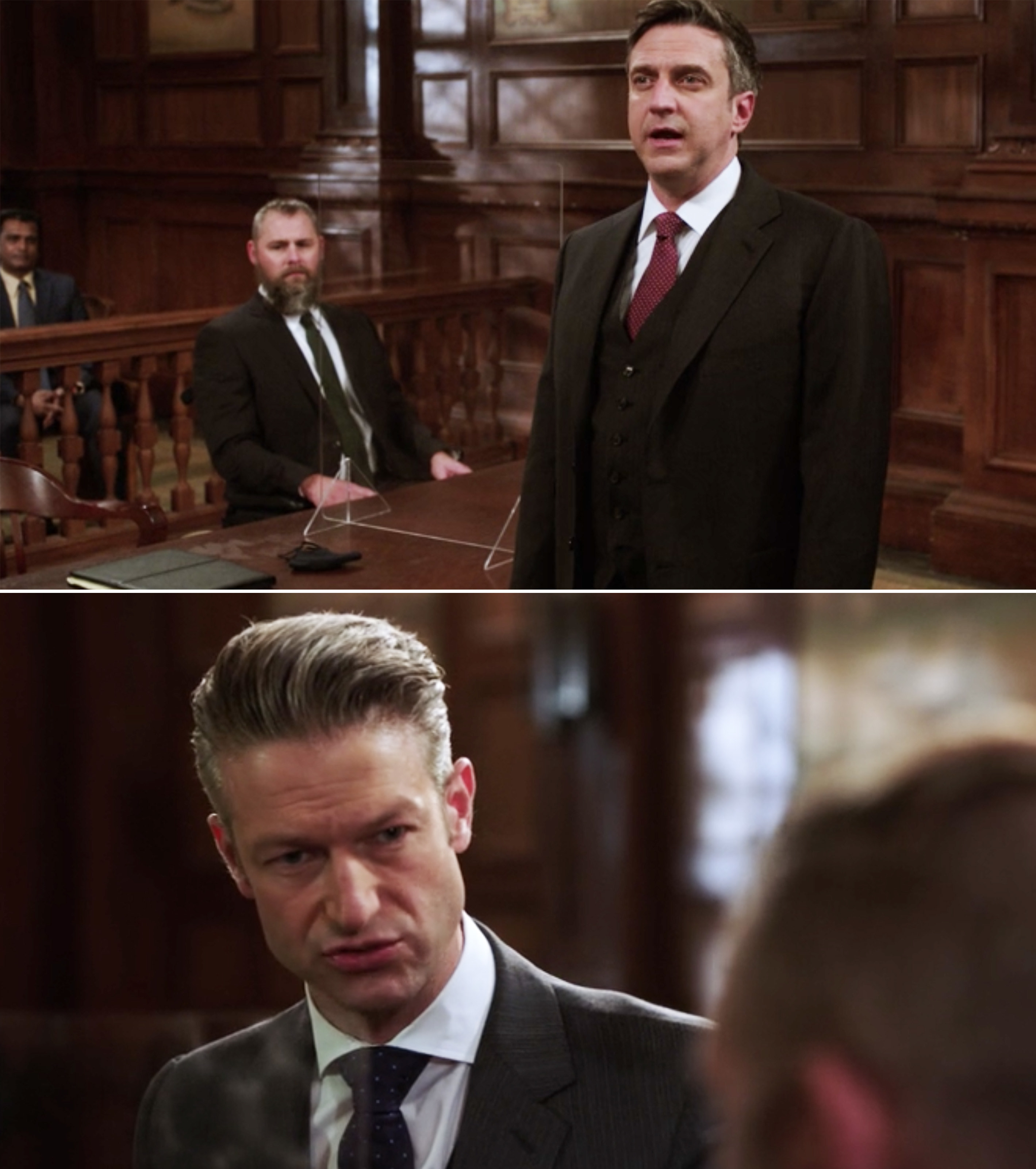 Barba and Carisi in court together