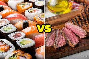 Sushi VS steak