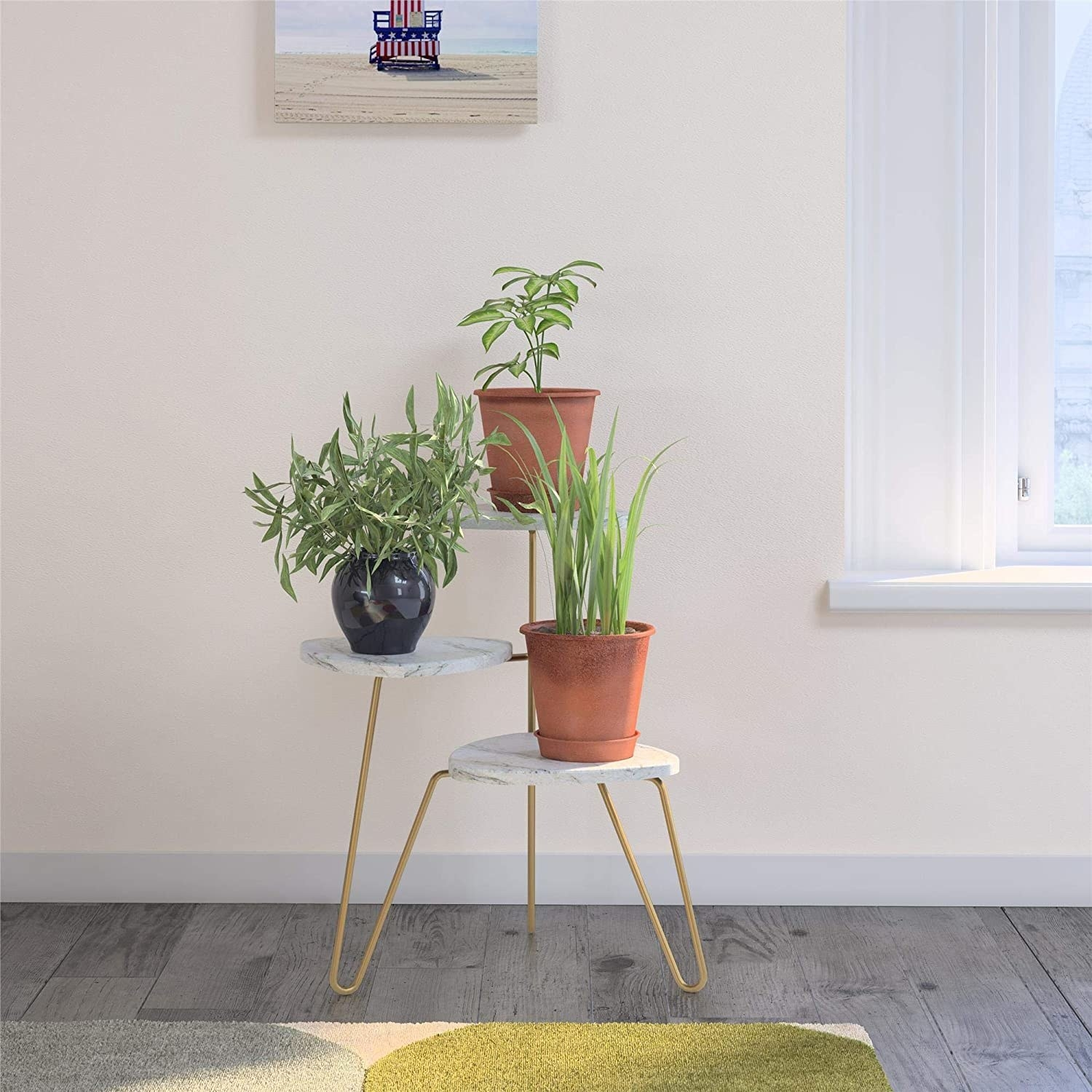 The three-tier plant stand