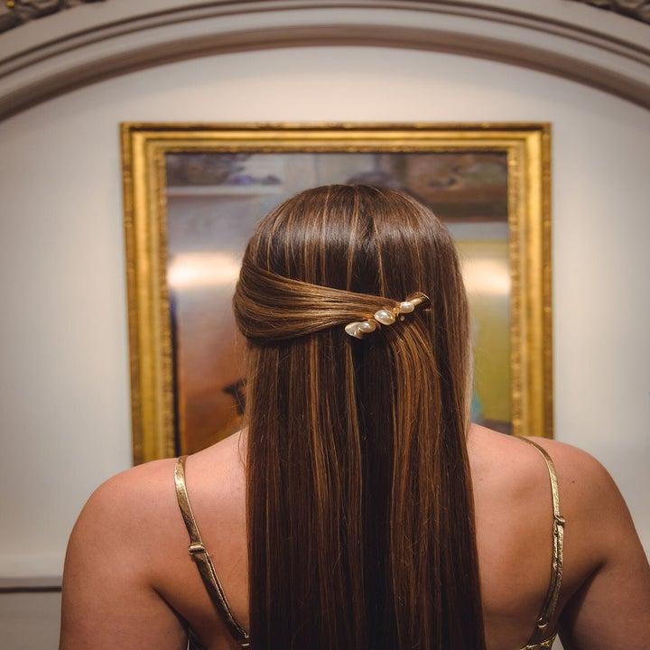 hair clip on a model