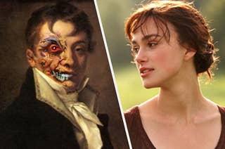 The portrait of Dorian Gray next to Elizabeth Bennet