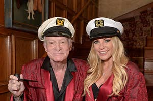 Hugh Hefner and his wife Crystal