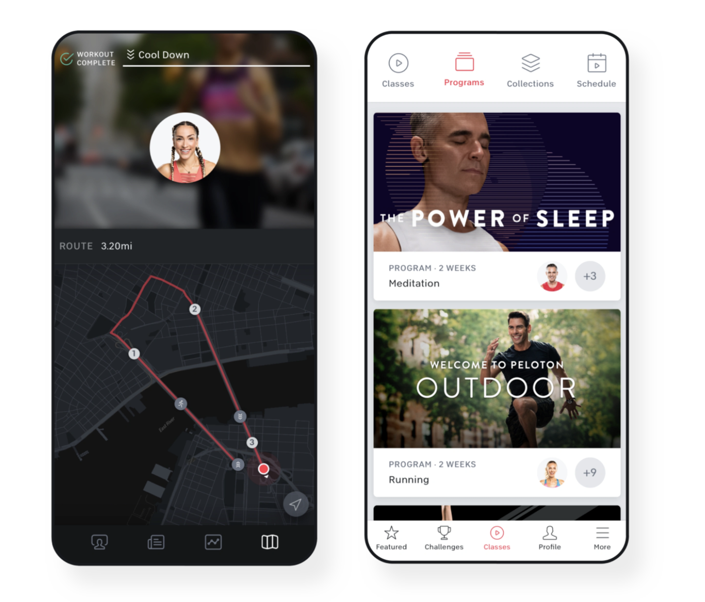 A screenshot of the Peloton app