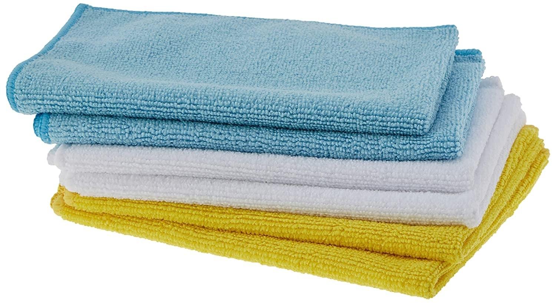 A set of microfiber cloths