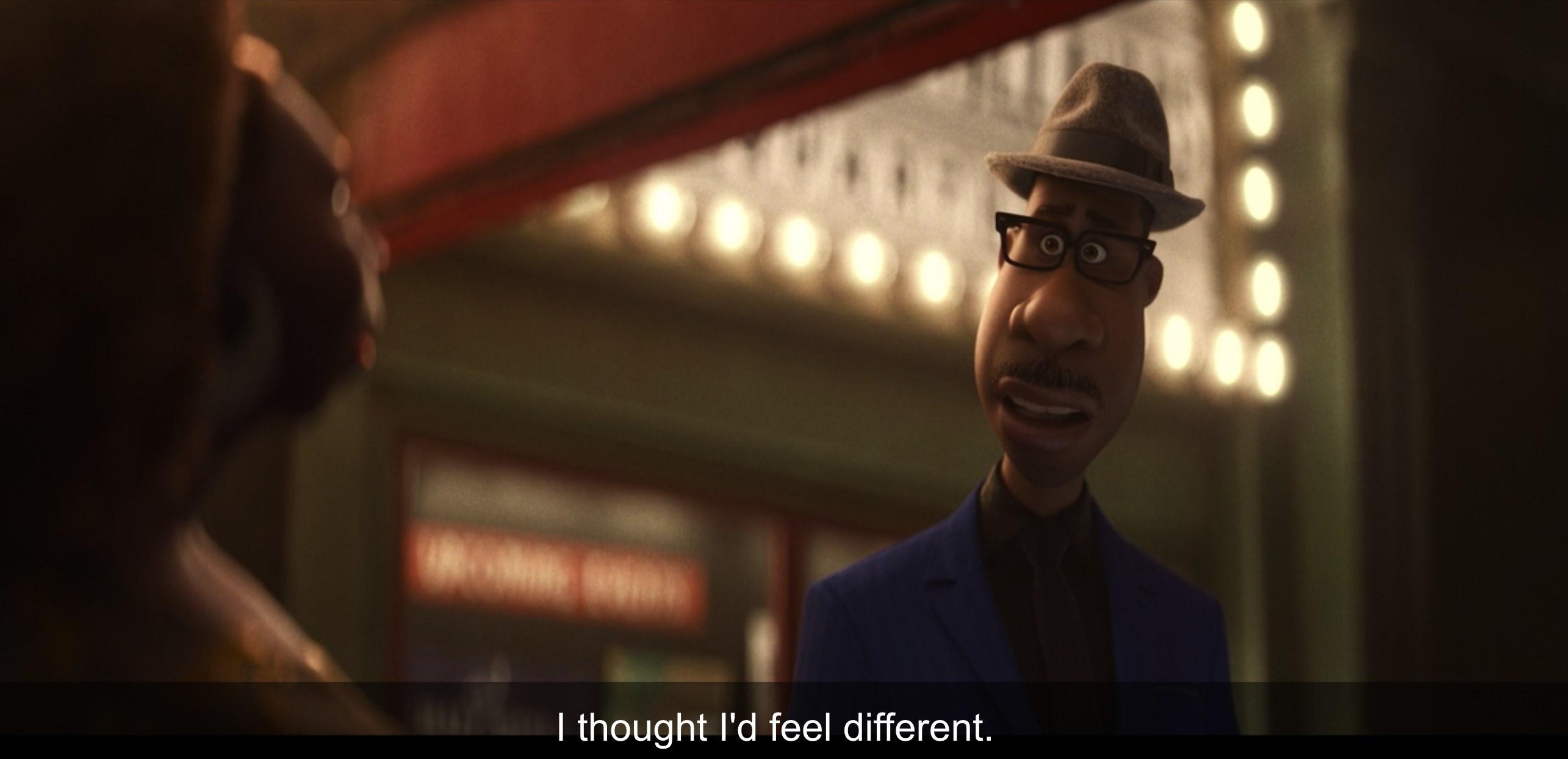 "Joe saying ""I thought I'd feel different"""
