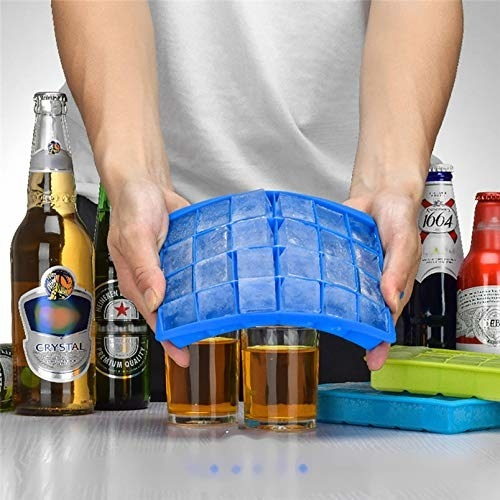 Bue silicone ice cube tray