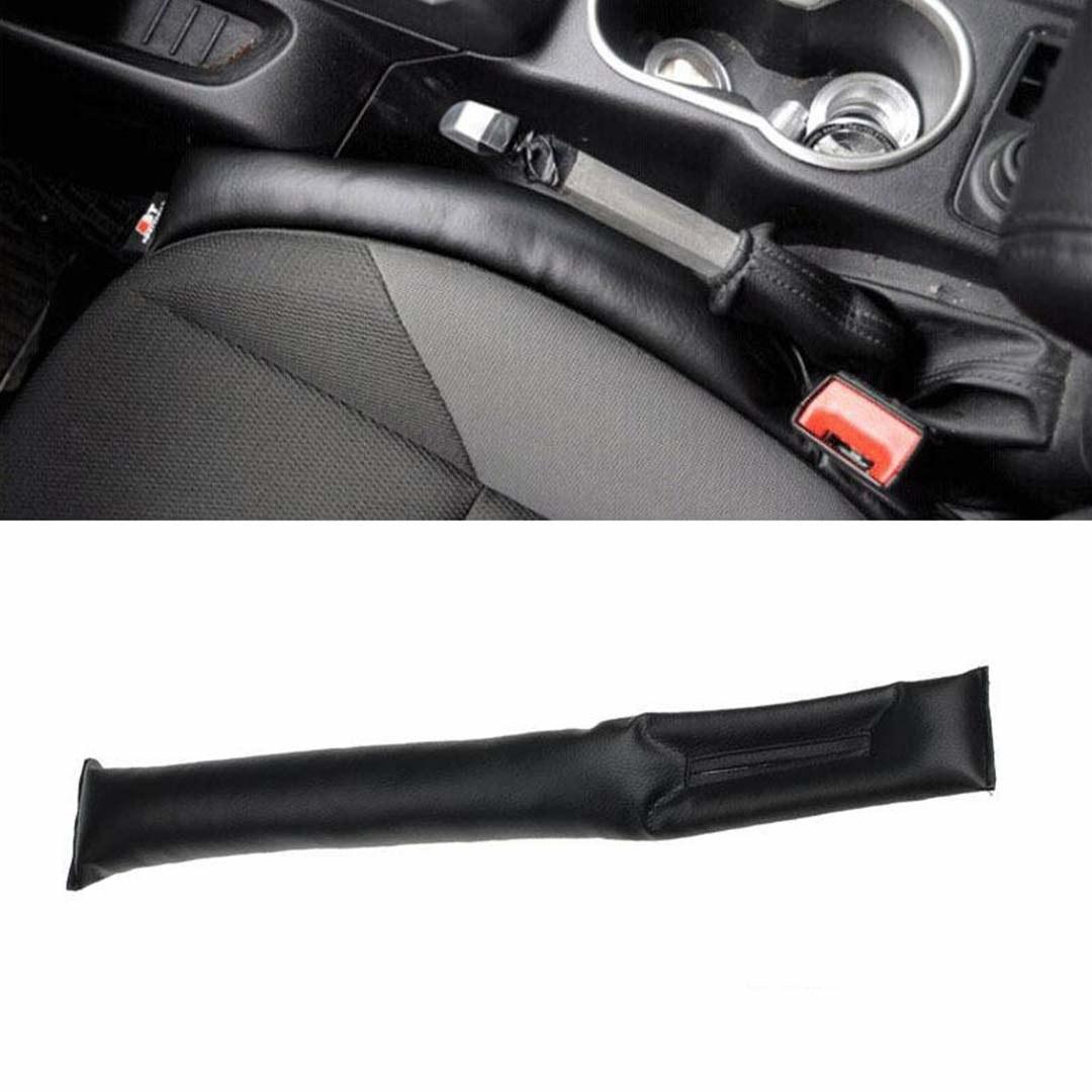 A car seat gap filler in a car
