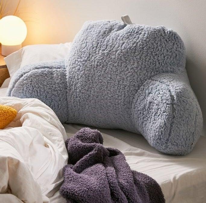 the fuzzy reading pillow