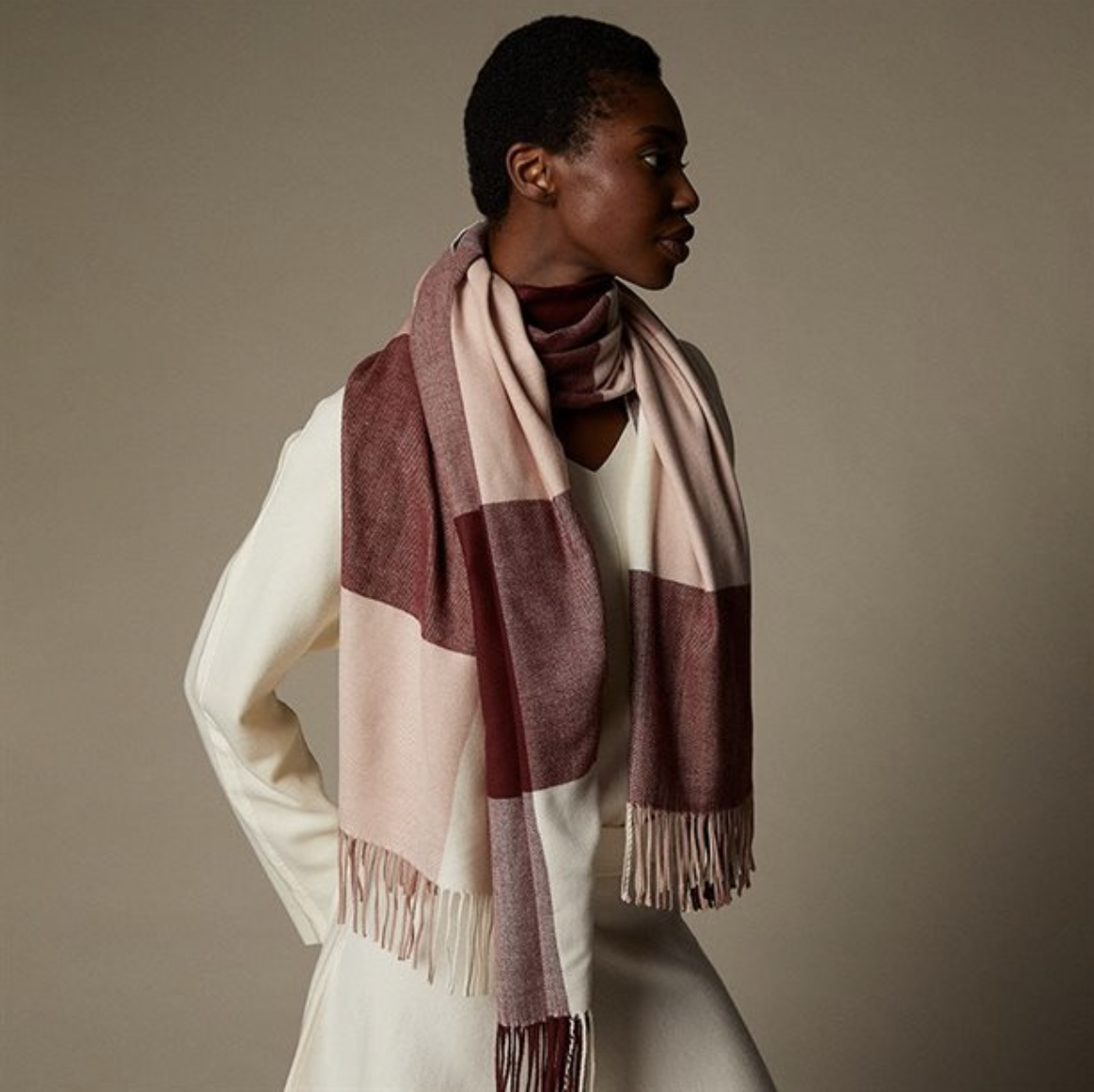 person wearing the scarf