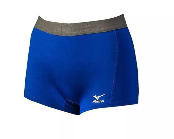 The Mizuno shorts in blue