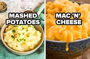 mashed potatoes mac n cheese