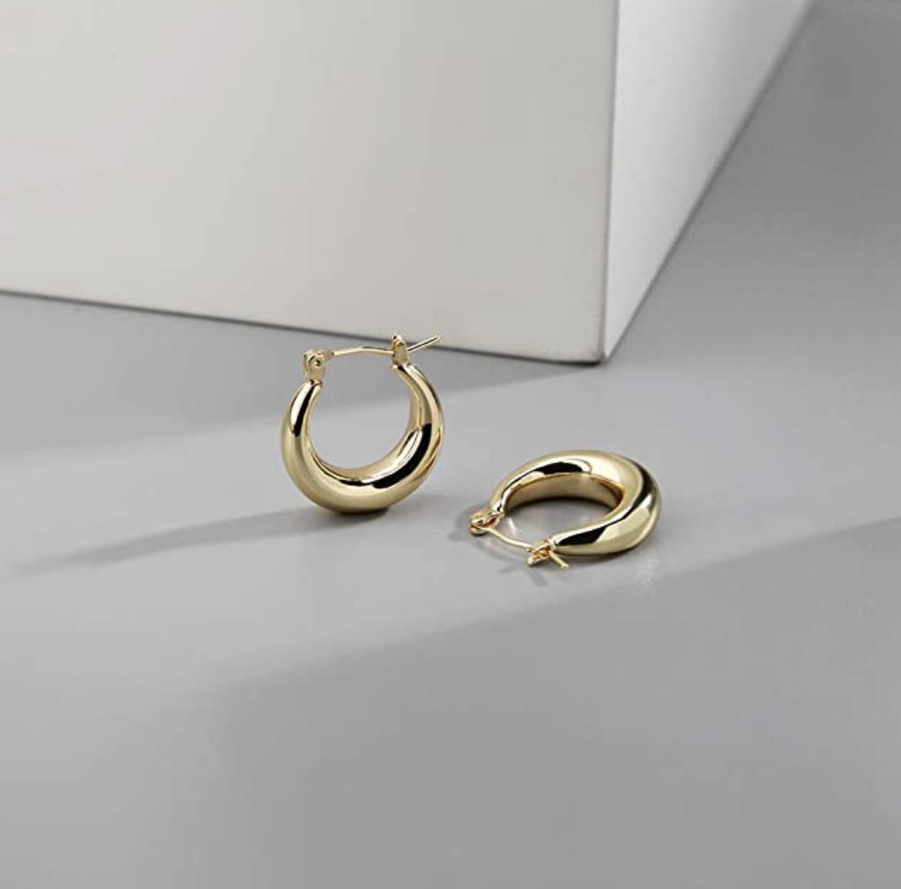 the hoop earrings on a table