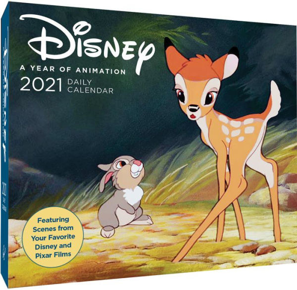 A Disney year of animation box calendar with Bambi and Thumper on it