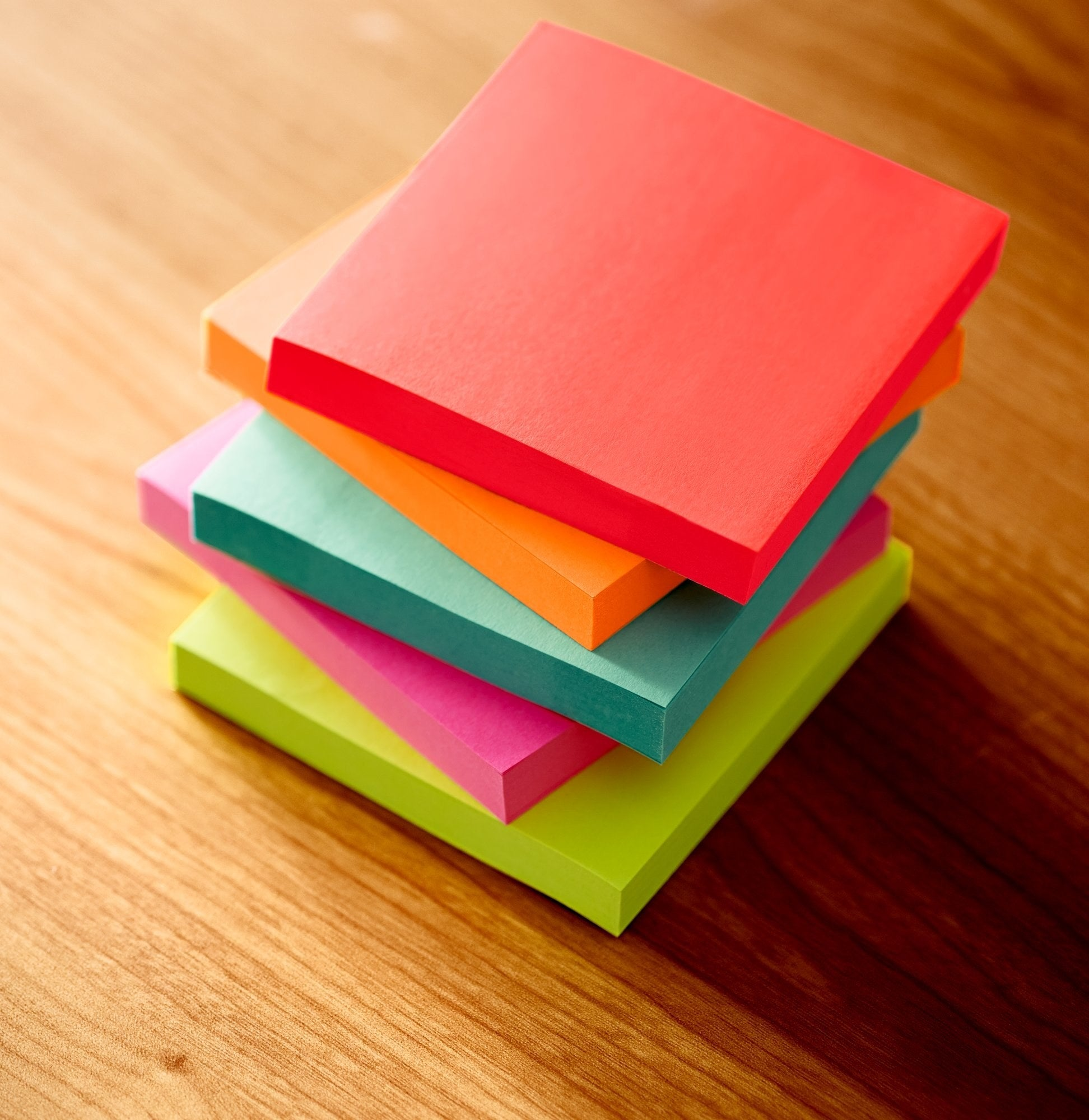 packages of post-it notes in different vibrant colors