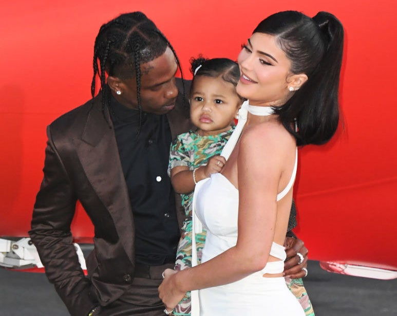 """Travis Scott, Stormi Webster and Kylie Jenner attend the Premiere Of Netflix's """"Travis Scott: Look Mom I Can Fly"""""""
