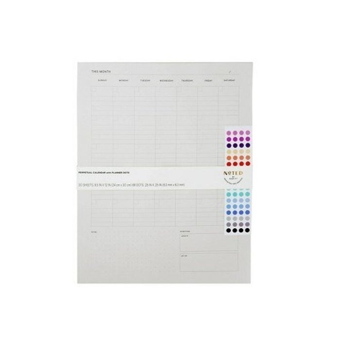 the planner and the colorful dot stickers