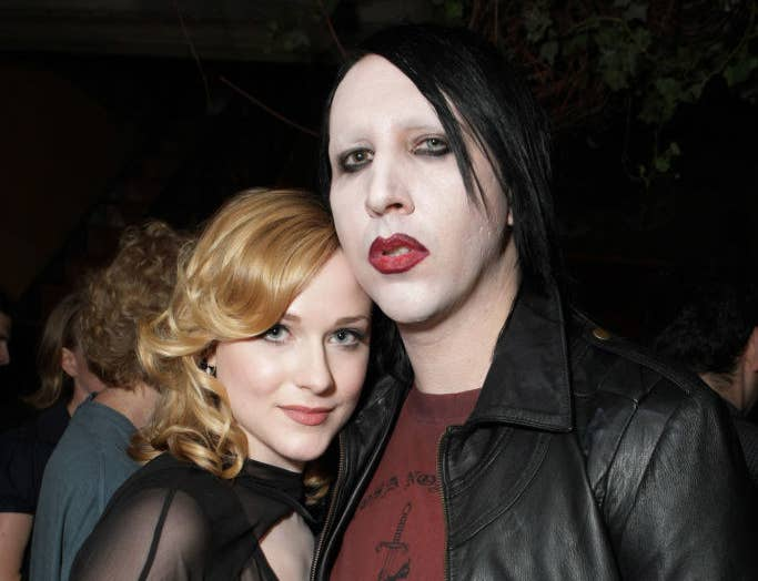"""Evan Rachel Wood and Marilyn Manson at the Gala Screening of Sony Pictures """"Across The Universe"""""""