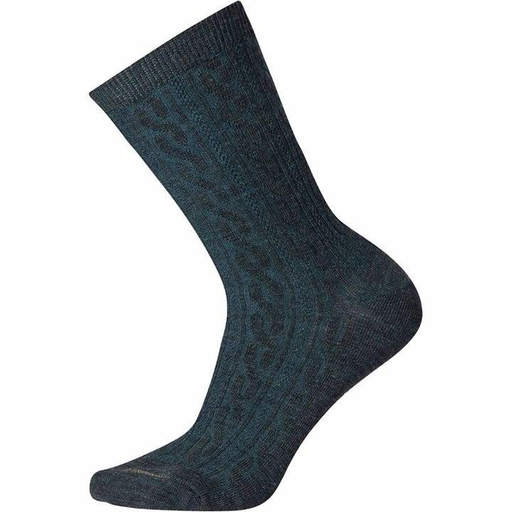 the crew-height socks in dark green