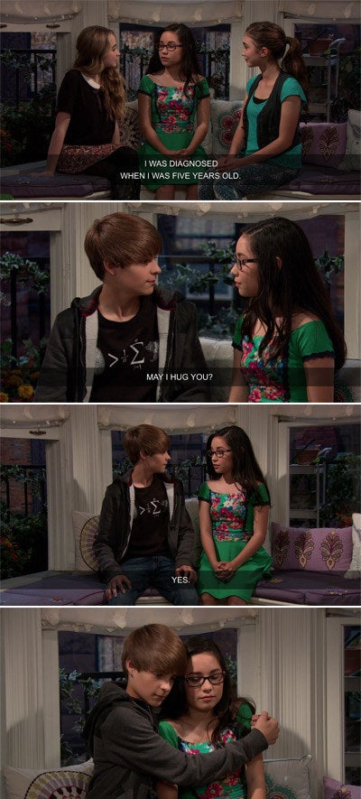 Smackle talking about having Asperger's and Farkle hugging her