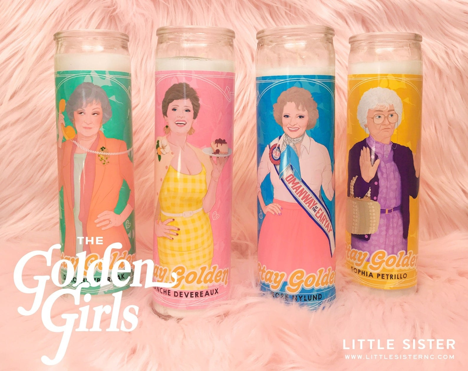 the dorothy, blanche, rose, and sophia candle set