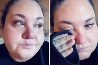 Savanna crying.