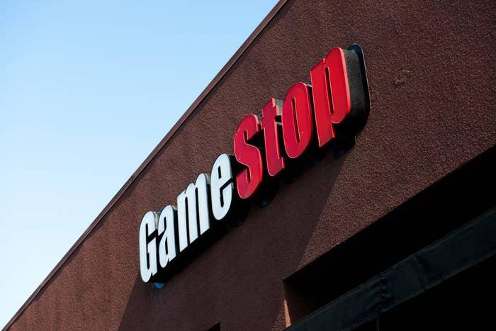 A GameStop storefront