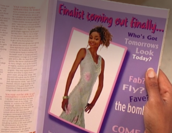 A photo of Raven in a magazine edited to make her look slimmer