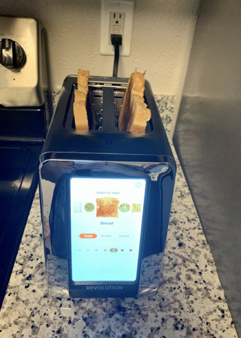 reviewer photo of toaster toasting bread