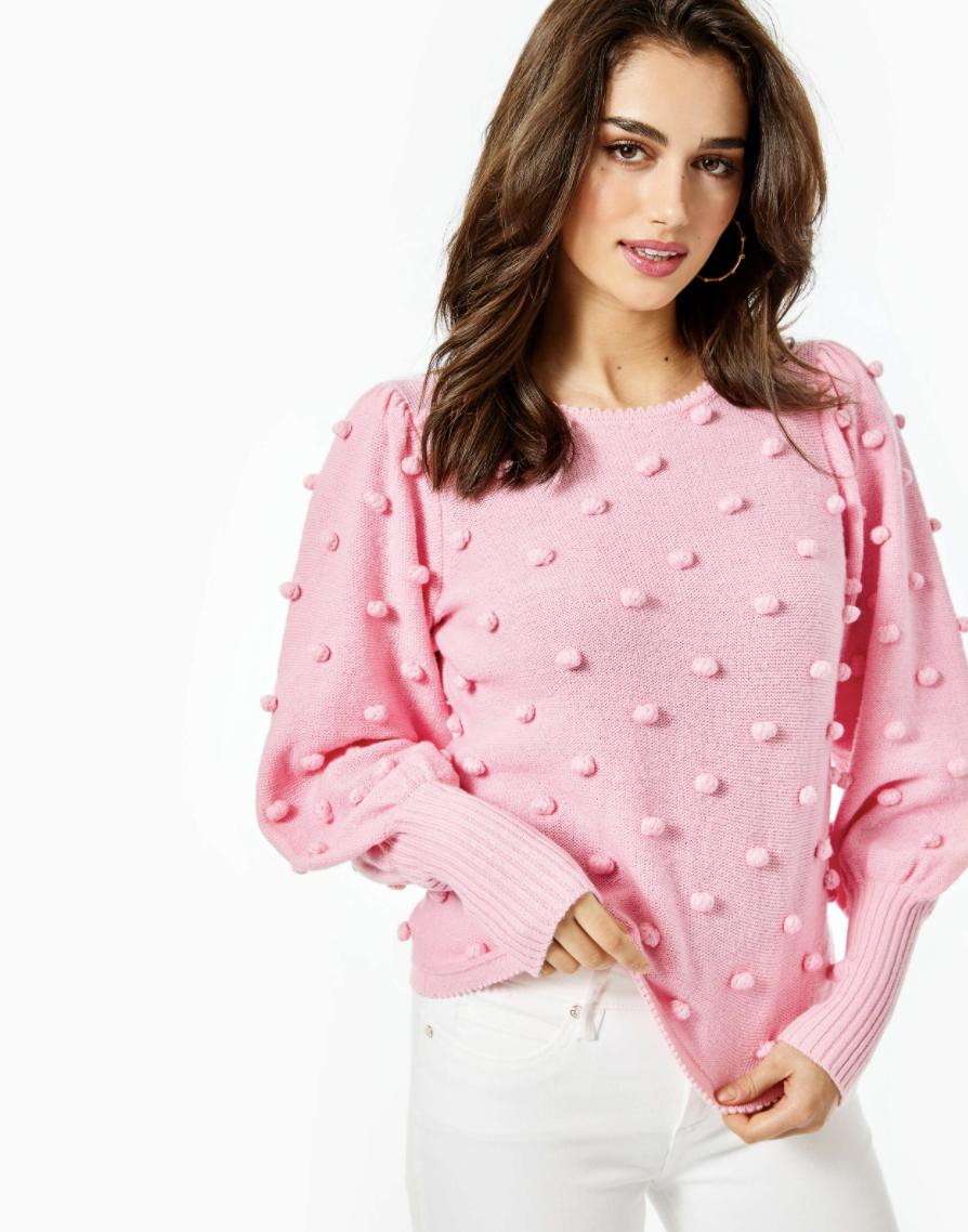 lilly pulitzer pink kippa sweater