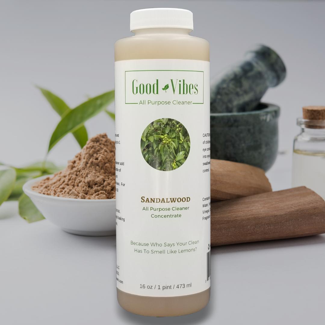 Bottle of the sandalwood all-purpose cleaner