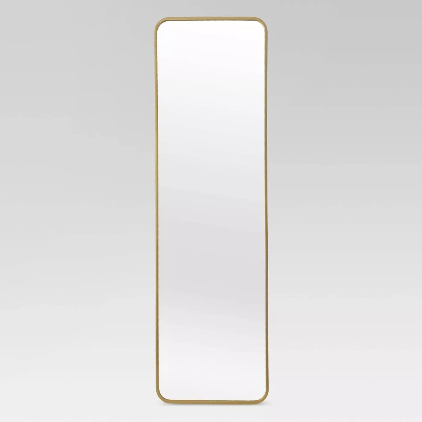 An over-the-door mirror