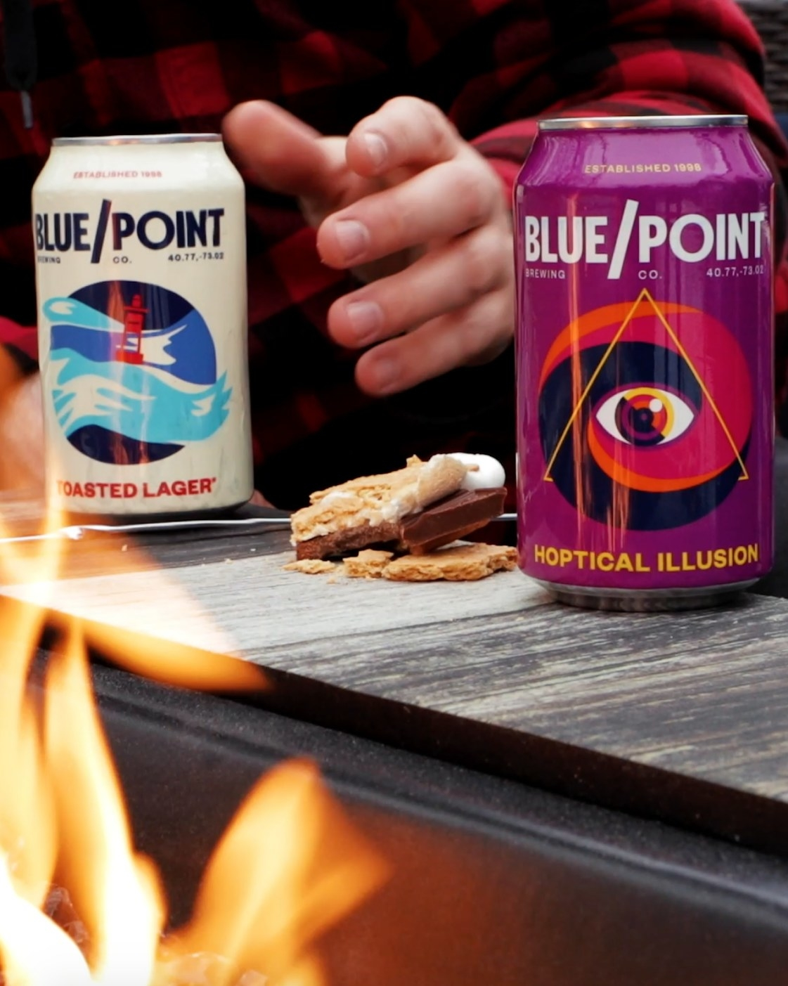 The Blue Point Brewing Toasted Lager and Hoptical Illusions