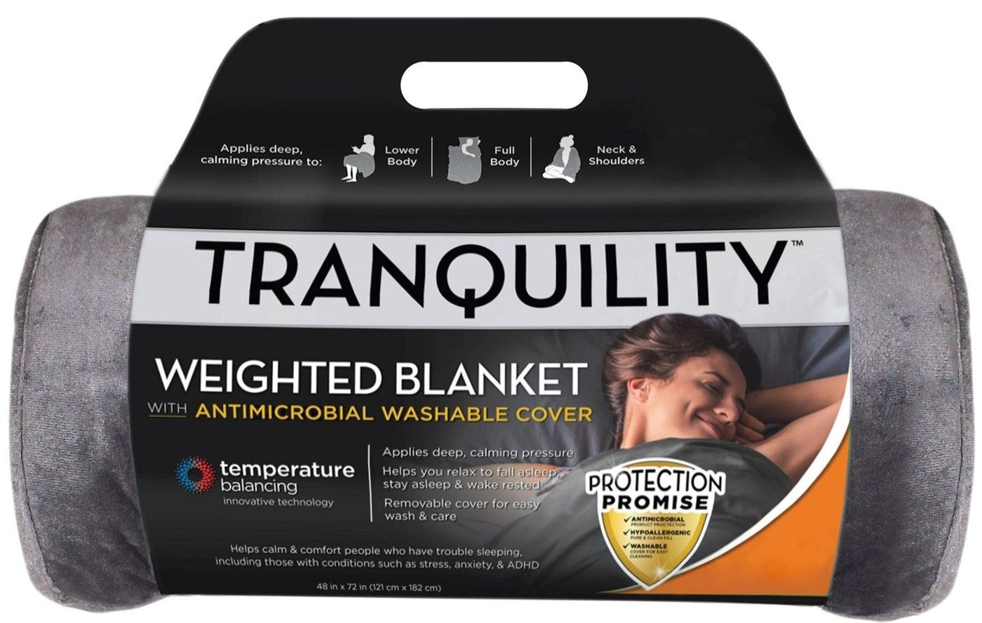 The blanket, which is gray