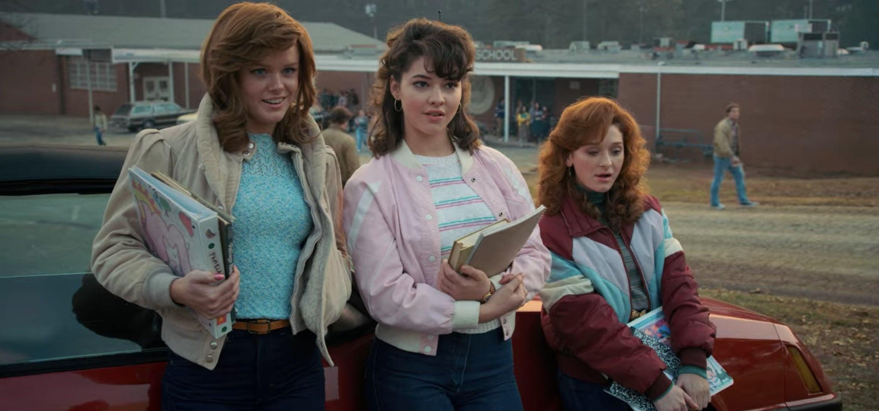 A group of girls in Stranger Things Season 2