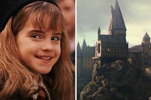 """Hermione from """"Harry Potter"""" and Hogwarts"""