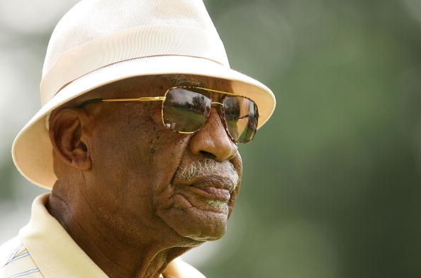 Charlie Sifford in sunglasses and hat