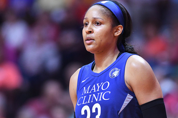 Maya Moore in basketball uniform