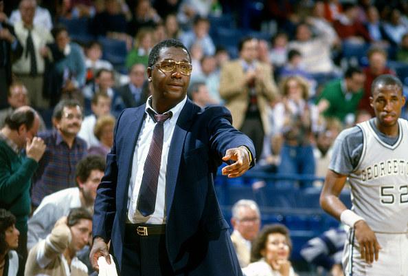 John Thompson coaching basketball game