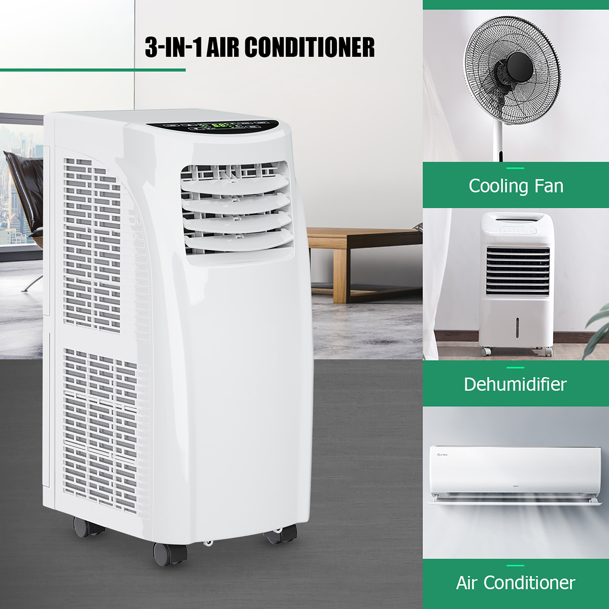 a promotional photo of the portable air conditioner