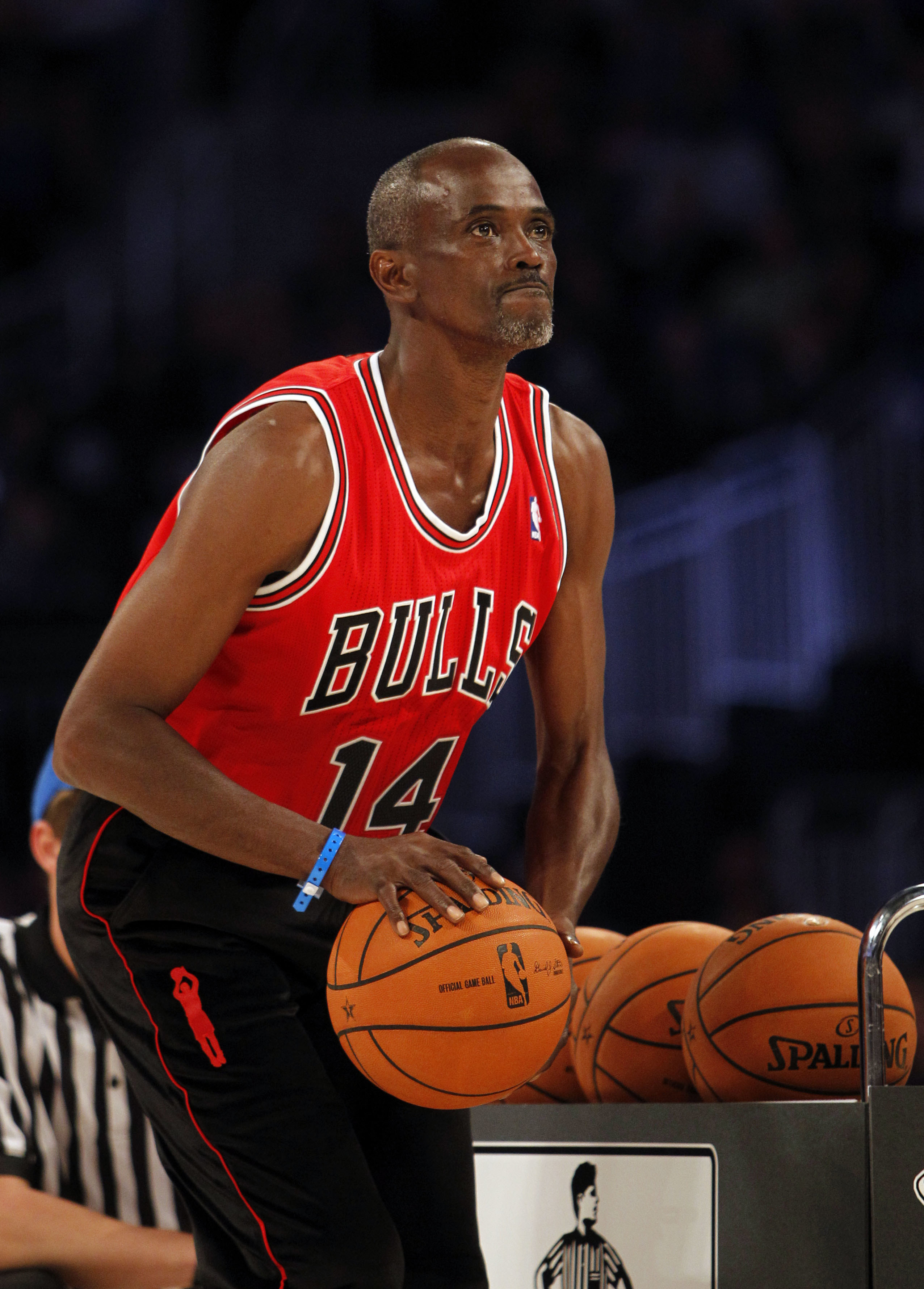 Craig Hodges playing at the NBA all stars game in 2012