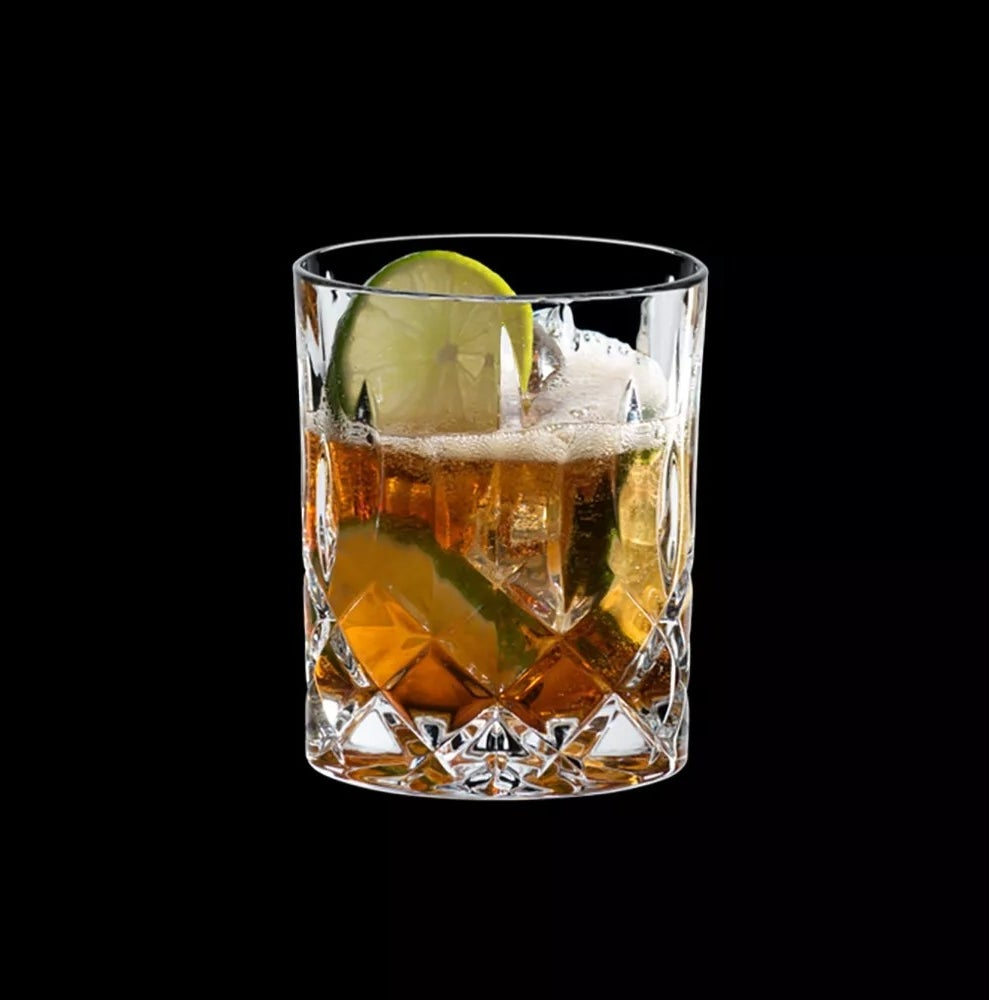 The crystal whiskey glasses