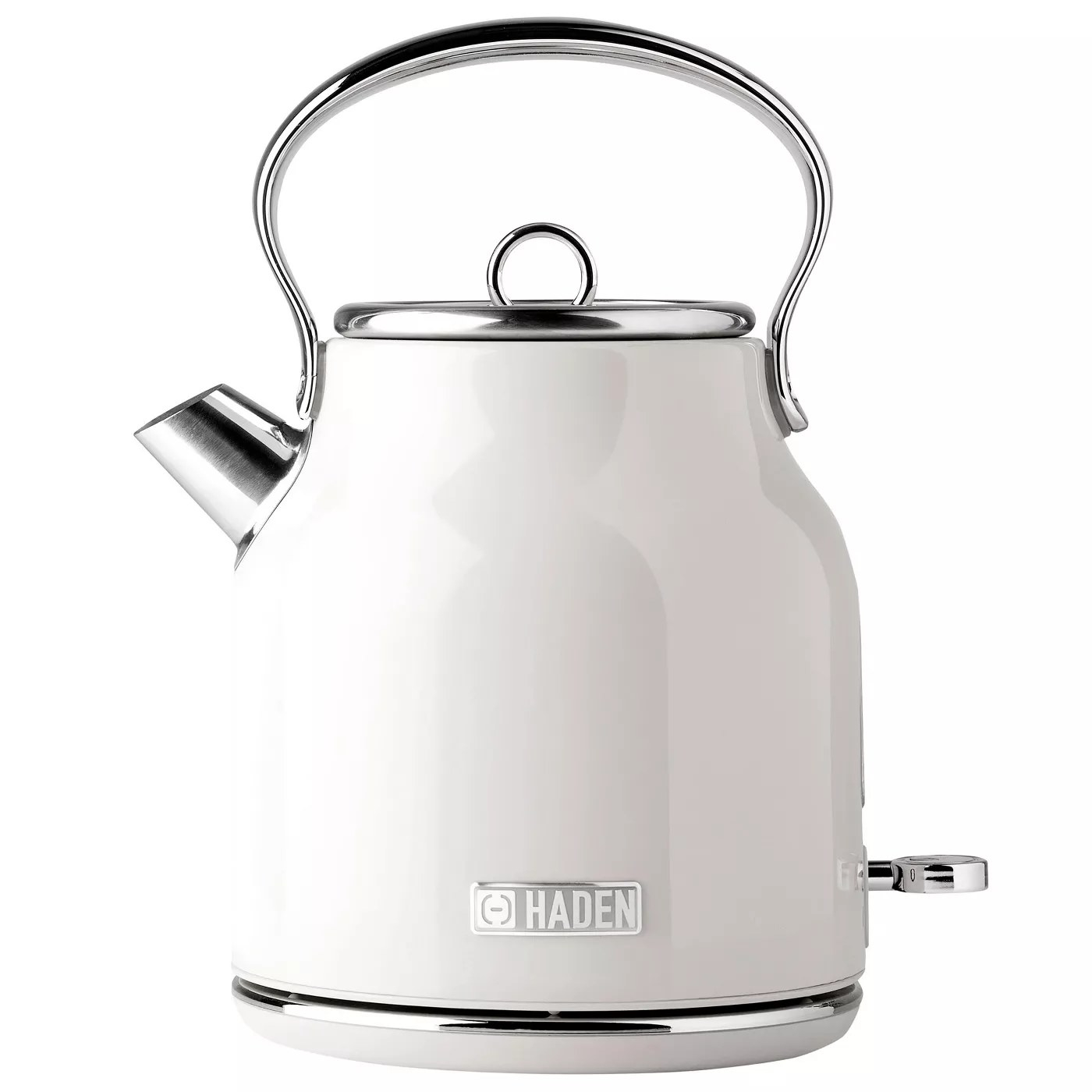 The white electric tea kettle
