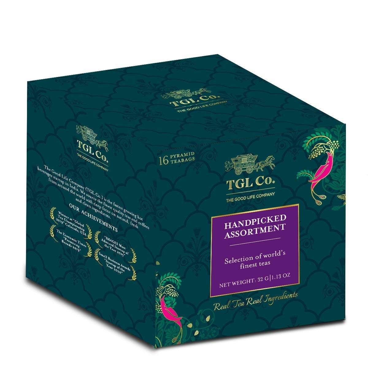Packaging of the assorted green tea box