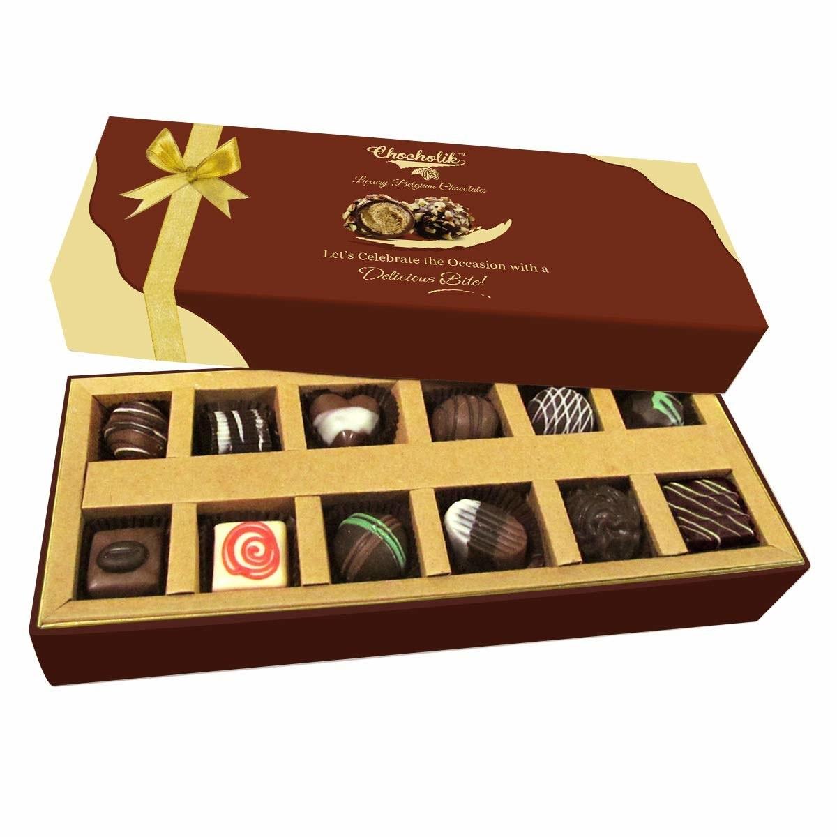 A box of Belgian chocolates