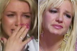Britney crying during two separate primetime interviews