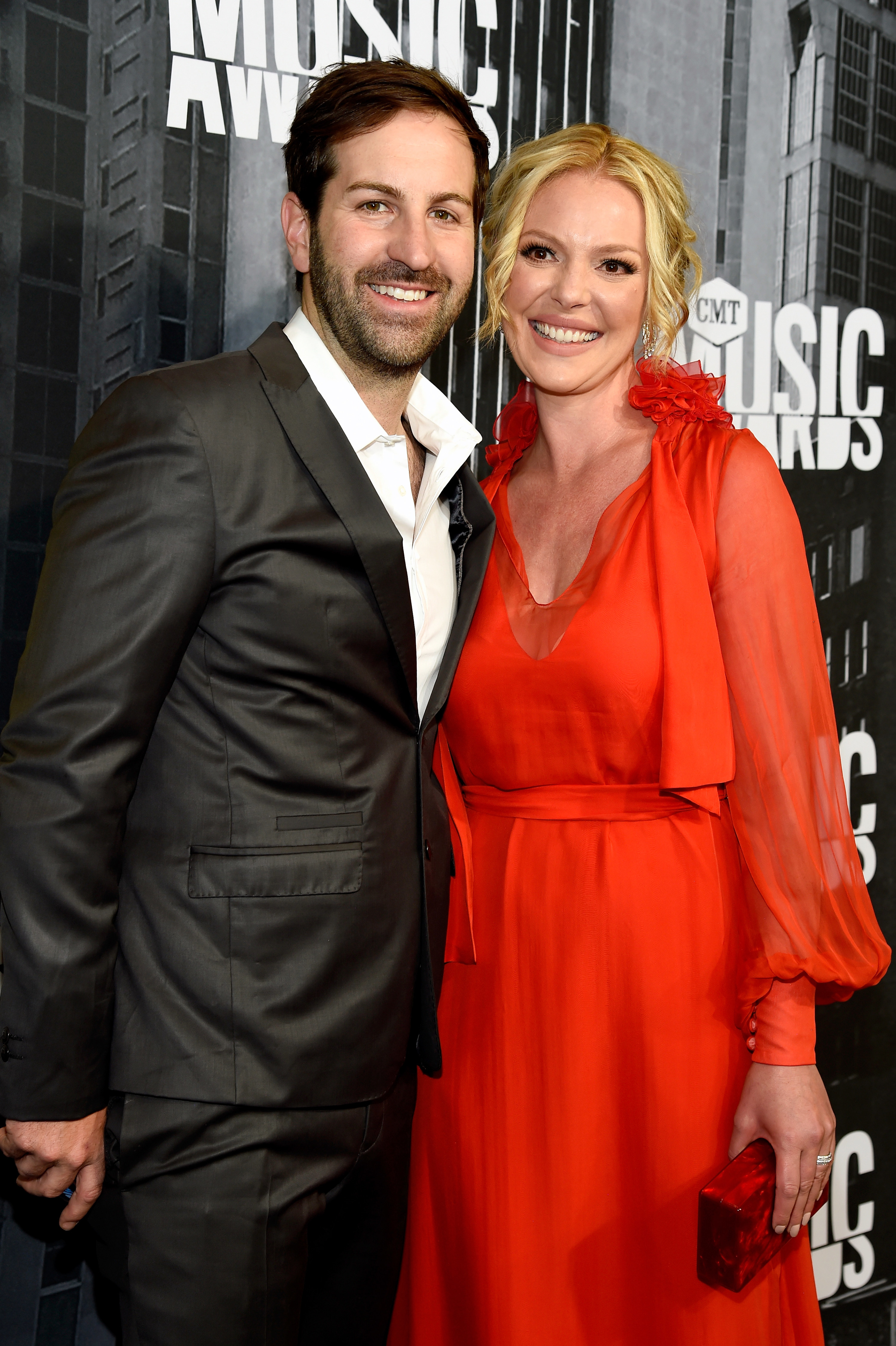 Josh Kelley and Katherine Heigl at the 2017 CMT Music Awards