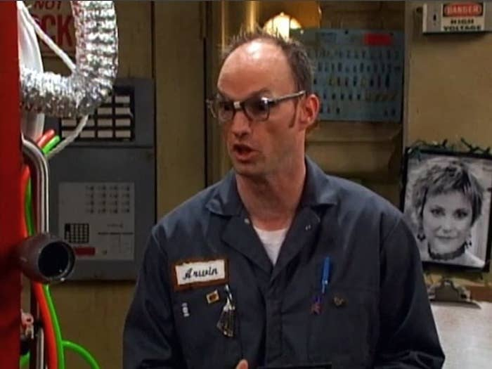 """Arwin Hochauser from """"Suite Life"""" in his signature work uniform"""