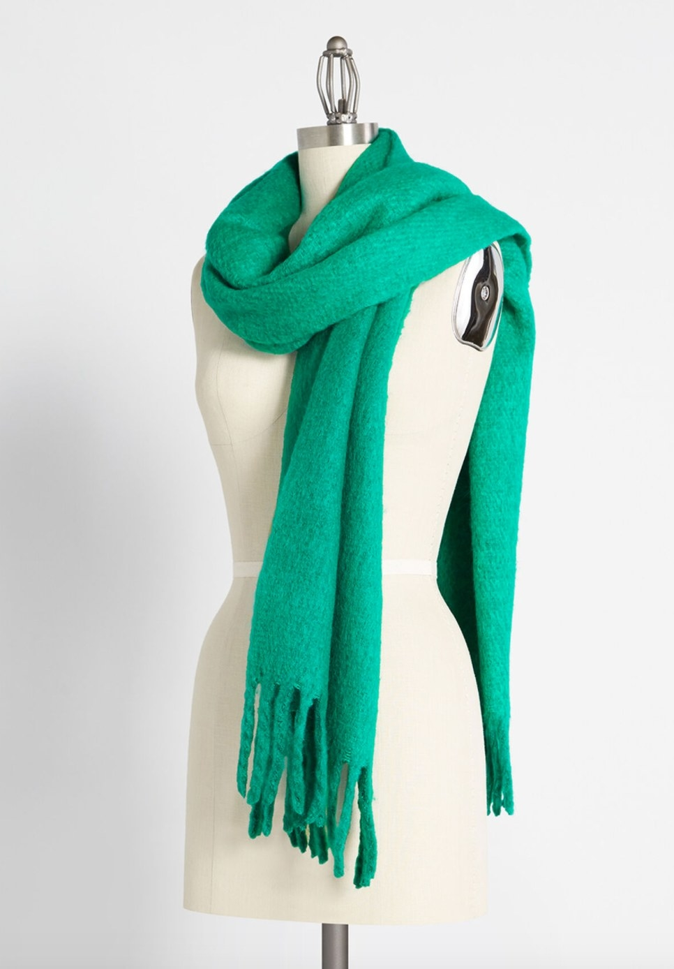 The cozy scarf in green